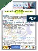 BROCHURE - CURSO EXAMEN CERTIFICACION OSCE MAYO 2021