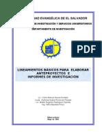 LINEAMIENTOS para pryectos e informes de inv modificado