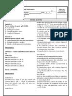 ROTEIRO QUÍMICA - 2 ANO