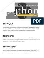 Tema3 - Estrutura básica de um programa em Python