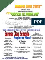 2011 Summer Flyer