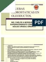 PRUEBAS HIDROSTATICAS EN OLEODUCTOS