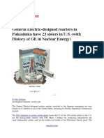 General Electric-designed reactors in Fukushima have 23 sisters in U.S. (with History of GE in Nuclear Energy)