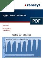 Renesys. Egypt Leaves The Internet