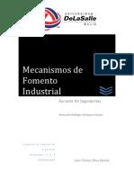 mecanismos de fomento industrial