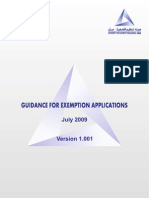 aer154 Guidance For Exemption Applications - July 2009