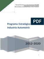 Programa Estrategico de La Industria Automotriz de Mexico