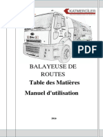6 m3 Truck Road Sweeper Manual & Spare Part [French]