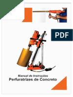 Manual de instrução da Perfuratriz de Concreto