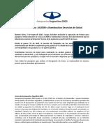 COMUNICADO Aeropuertos Argentina 2000 y Stamboulian