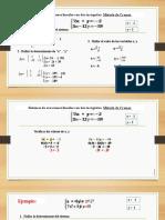 03 SEL- Metodo Cramer- 10mo B