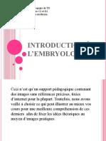 1) Introduction à l'Embryologie