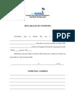 DECLARAÇÃO CONSELHO FISCAL PNAE