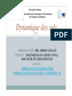 Dynamique Des Sols Master de Recherche CHAPITRES 0 ET 1
