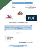 Virtualisation d'un systeme de sauvegarde