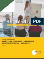 Magíster en Ciencias de la Educación Mención Currículum y Evaluación (Temuco)