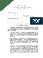 Complaint-Affidavit-Mandawe