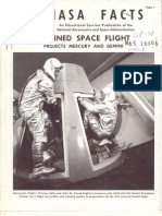 NASA Facts Manned Space Flight Projects Mercury and Gemini