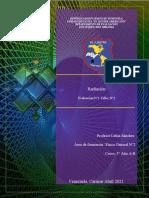 5°Año Física E1. Radiación. Profesor Lubin Sánchez Taller N°1