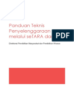 Panduan Teknis Penyelenggaraan UPK Melalui SeTARA Daring