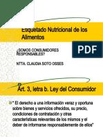 Etiquetado Nutricional de los Alimentos