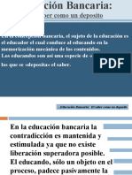 Educacion Bancaria, Educ Problem....