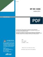 NF EN 13306 - 2010