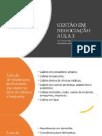 GESTÃO PROFISSIONAL AULA 3