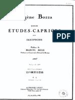 Douze Études Caprices pour saxophone