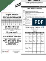 Newsletter Week 30