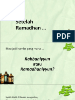 Apa Setelah Ramadhan