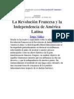 La Revolucion Francesa y Independencia de America