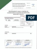 PP-TAL-C-084_00 CONTROL DE LA CALIBRACIÓN DE LOS EQUIPOS DE SUPERVISIÓN, ENSAYO Y MEDIDA