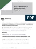 1ª Unidade - Aula 4 - Principais Teorias Do Desenvolvimento Humano