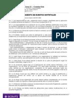 REGLAMENTO DE EVENTOS DISTRITALES 2009