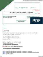 PE-1PBR-00220-0 Trabalhos Em Altura - Andaimes