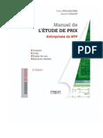 Manuel de l'ETUDE de PRIX Entreprises Du BTP