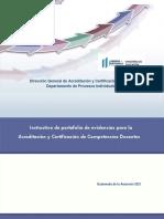 Instructivo Portafolio Competencias Docentes