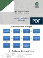 Aula Usinagem 14-04-2021 - Planejamento de Usinagem