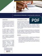 Pedagogía y Planificación Curricular