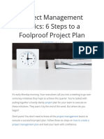 How to make a project plan