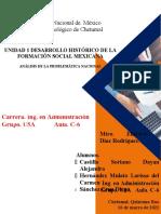 Unidad 1. Desarrollo historico de la formacion social mexicana
