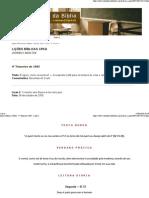 Lições Bíblicas CPAD - 4º Trimestre 2005 - Lição 2