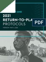 USL League One 2021 Return to Play Protocols