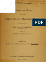 Original Documents of European History Vol VI - Early Germans