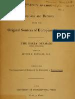 Original Documents of European History Vol VI - Early Germans