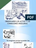 OBSERVANDO LOS ACTOS Y LAS CONDICIONES INSEGURAS