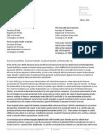 API Letter Usmca May 2021