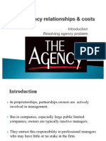 Agency relationships & costs