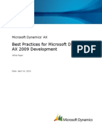 DynamicsAX 2009 Development Best Practices White Paper